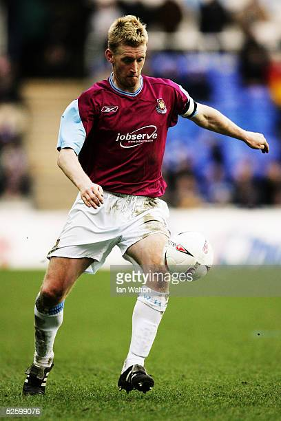 Steve Lomas of West Ham United in action during the CocaCola Championship match between Reading and West Ham United at the Madejski stadium on March...