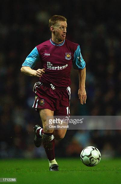 Steve Lomas of West Ham United running with the ball during the FA Barclaycard Premiership match between Blackburn Rovers v West Ham United held on...