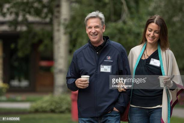 Steve Luczo chief executive officer of Seagate Technology and his wife Agatha attend the fourth day of the annual Allen Company Sun Valley Conference...