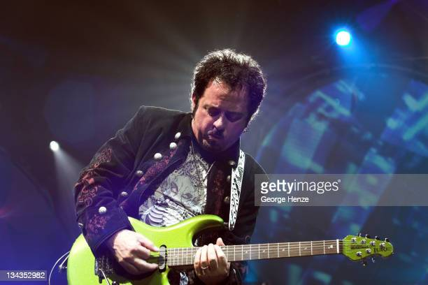 Steve Lukather of Toto during Toto in Concert at the Heineken Music Hall in Amsterdam March 19 2007 at Heineken Music Hall in Amsterdam Netherlands
