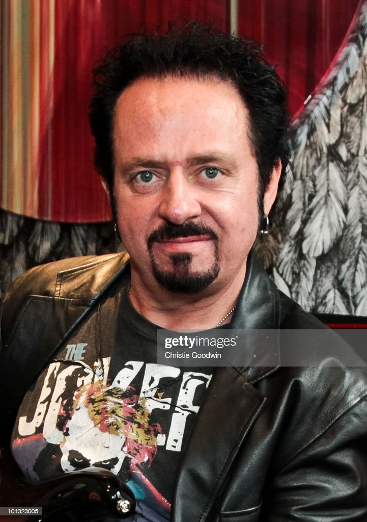 Steve Lukather of Toto poses on September 7, 2010 in London, England.
