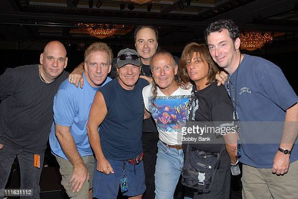Steve Luongo, Brian Johnson, Mark Hitt, Mark Farner, Joe Lynn Turner and band Exclusive Backstage Photos before the Classic Rock Cares show to...