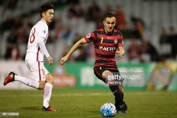 Steve Lustica of the Wanderers controls the ball during the AFC Asian Champions League Group Stage match between the Western Sydney Wanderers and...