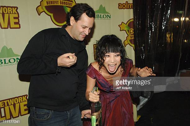 Steve Luttmann founder of Leblon and Bai Ling during LeBlon Cachaca Presents The Peapod A Concert Benefit with Black Eyed Peas After Party at Henry...