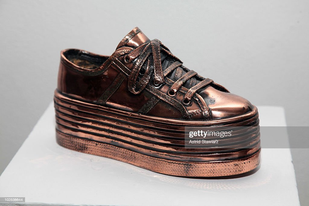 Steve Madden shoes are on display during a Nikki & Rich concert presented  by Steve Madden