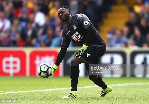 Steve Mandanda of Crystal Palace in action during the Premier League match between Crystal Palace and Stoke City at Selhurst Park on September 18...