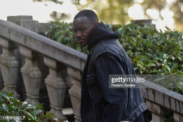 Steve Mandanda of France arrives ahead of a training session on November 11 2019 in Clairefontaine France France will play against Moldova in their...