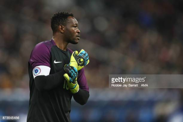 Steve Mandanda of France during the International Friendly fixture between France and Wales at Stade de France on November 10 2017 in Paris France