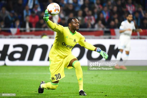 Steve Mandanda of Marseille during the Europa League Final match between Marseille and Atletico Madrid at Groupama Stadium on May 16 2018 in Lyon...