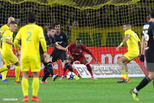 Steve Mandanda of Marseille during the French Ligue 1 match between FC Nantes and Olympique de Marseille on December 5 2018 in Nantes France