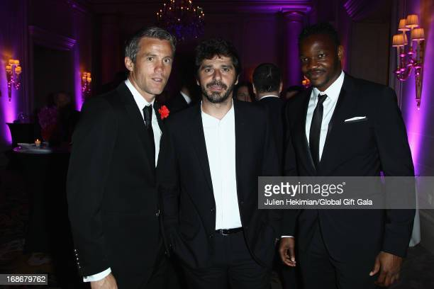 Steve Mandanda Patrick Fiori and guest attend the 'Global Gift Gala' at Hotel George V on May 13 2013 in Paris France