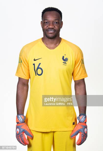 Steve Mandrandra of France poses for a portrait during the official FIFA World Cup 2018 portrait session at the Team Hotel on June 11 2018 in Moscow...