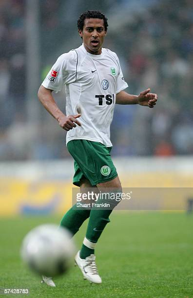 Steve Marlet of Wolfsburg in action during the Bundesliga match between Arminia Bielefeld and VfL Wolfsburg at the Schueco Arena on April 22 2006 in...