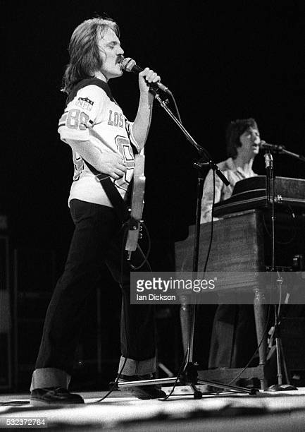 Steve Marriott and Ian McLagan of The Small Faces performing on stage, London, United Kingdom, 1977.