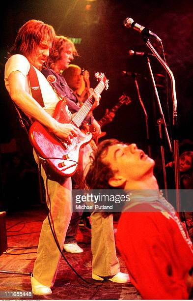 Steve Marriott Greg Ridley of Humble Pie perform on stage in London 1972