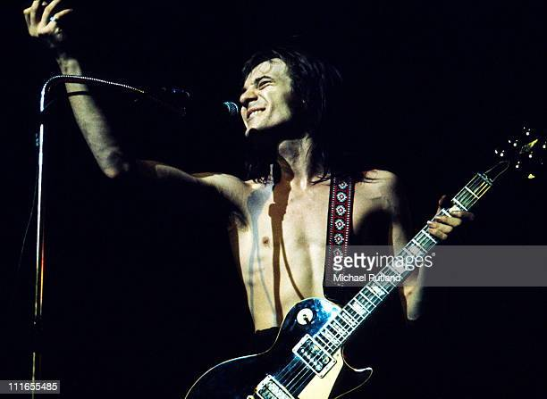 Steve Marriott of Humble Pie perform on stage in London 1973