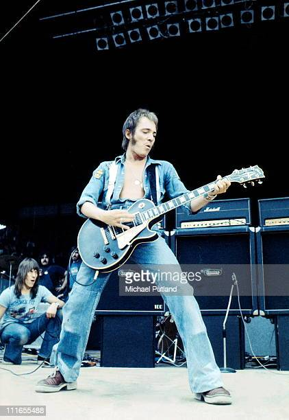 Steve Marriott of Humble Pie performs on stage at Charlton Athletic London 18th May 1974