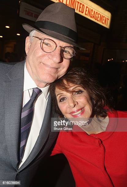 Steve Martin and Andrea Martin pose at The Opening Night of The Front Page on Broadway at The Broadhurst Theatre on October 20 2016 in New York City