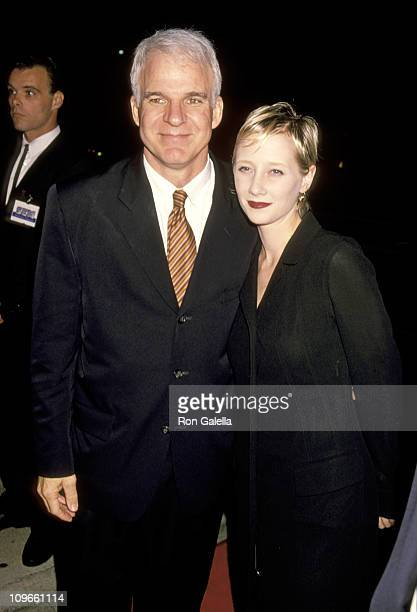 Steve Martin and Anne Heche during Opening Night of Steve Martin's Play Picasso at Lapin Agile October 22 1994 at Westwood Playhouse in Westwood...