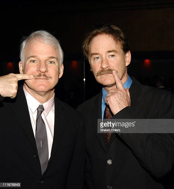Steve Martin and Kevin Kline during The Museum of Modern Art's 36th Annual Party in the Garden Honoring Steve Martin at Roseland in New York City NY...