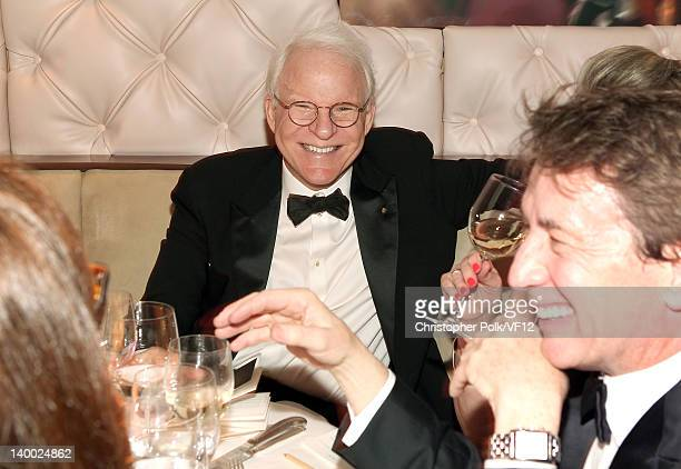 Steve Martin and Martin Short attend the 2012 Vanity Fair Oscar Party Hosted By Graydon Carter at Sunset Tower on February 26 2012 in West Hollywood...