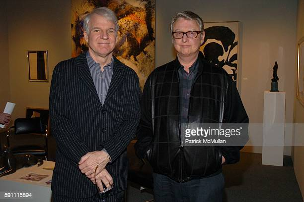 Steve Martin and Mike Nichols attend The Art Show Gala to Benefit The Henry Street Settlement at The Seventh Regiment Armory on February 23 2005 in...