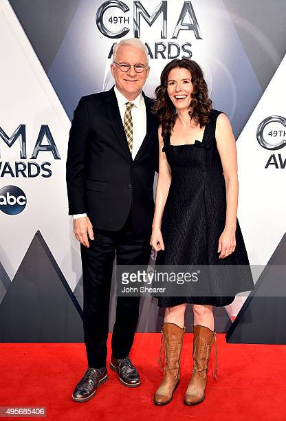 Steve Martin and musician Edie Brickell attend the 49th annual CMA Awards at the Bridgestone Arena on November 4, 2015 in Nashville, Tennessee.