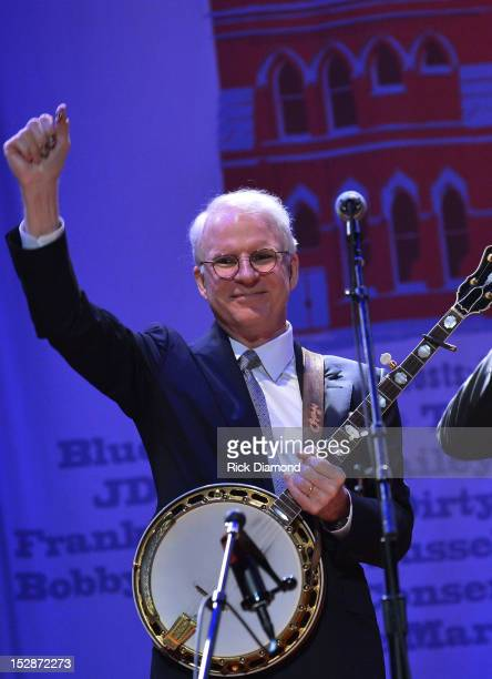 Steve Martin and The Steep Canyon Rangers perform at the 2012 International Bluegrass awards at the Ryman Auditorium on September 27 2012 in...