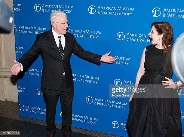 Steve Martin and Vanessa Bayer attend the 2015 American Museum of Natural History Museum Gala at American Museum of Natural History on November 19...