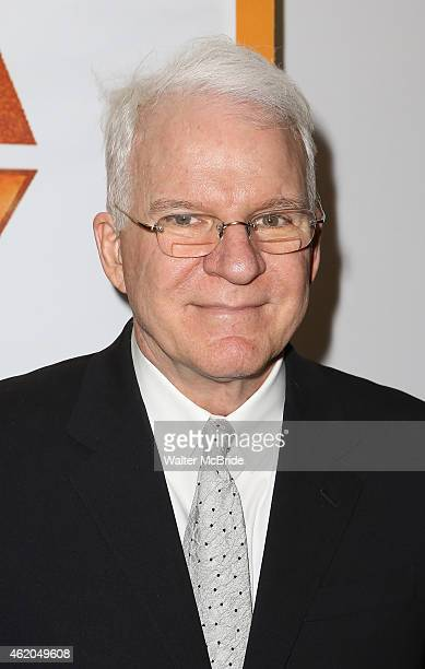 Steve Martin attends the reopening night of 'It's Only A Play' at the Bernard B Jacobs Theatre on January 23 2014 in New York City