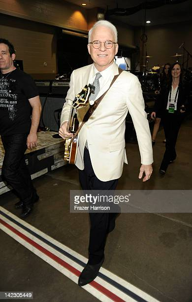 Steve Martin backstage at the 47th Annual Academy Of Country Music Awards held at the MGM Grand Garden Arena on April 1 2012 in Las Vegas Nevada