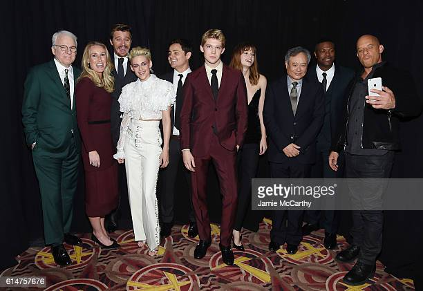 Steve Martin Laura Lundy Wheale Garrett Hedlund Kristen Stewart Arturo Castro Joe Alwyn Makenzie Leigh Ang Lee Chris Tucker and Vin Diesel attend...