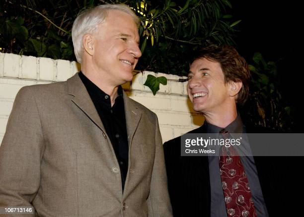 Steve Martin Martin Short during Party Announcing the Partnership Between Fashion Designer Stella McCartney and Absolut at Chateau Marmont Hotel in...