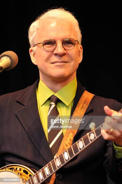Steve Martin performs at the 26th Annual Bridge School Benefit at Shoreline Amphitheatre on October 20, 2012 in Mountain View, California.