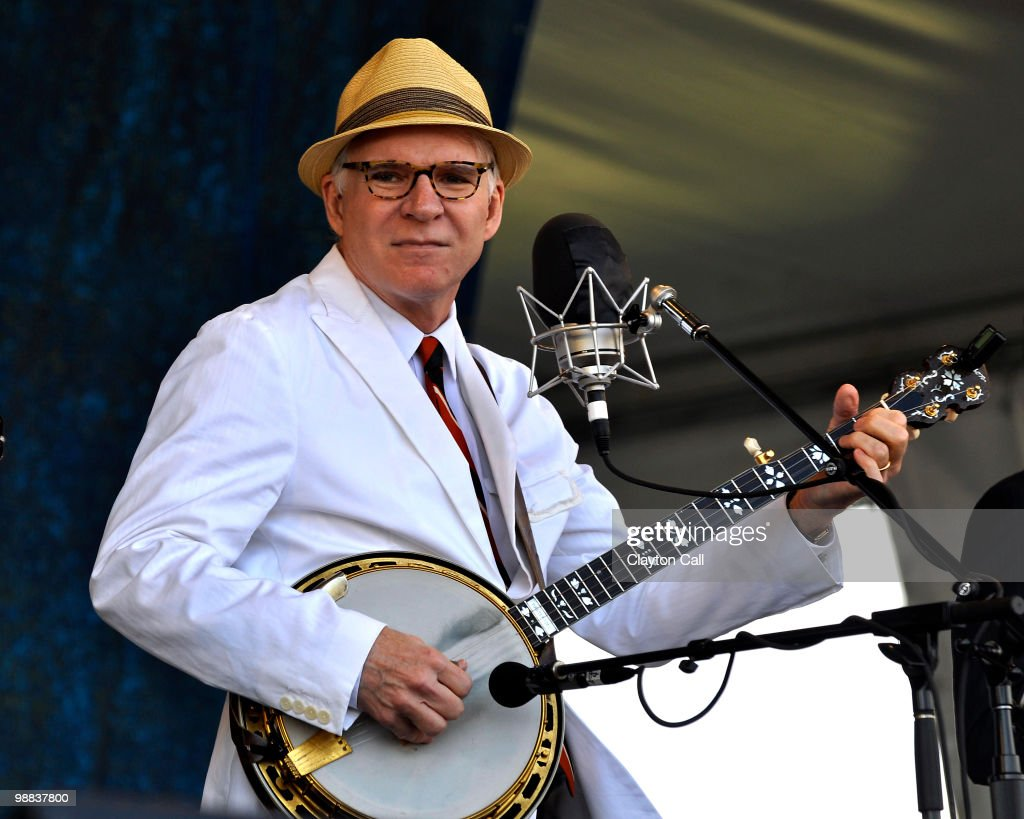 Steve Martin performs with The Steep Canyon Rangers at the Gentilly Stage on day four of New Orleans Jazz & Heritage Festival on April 29, 2010 in New Orleans, Louisiana.