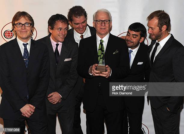 Steve Martin & The Steep Canyon Rangers win for Entertainer of the Year at the 2011 International Bluegrass awards at the Ryman Auditorium on...