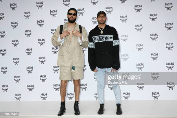 Steve Martinez and Chris Martinez attend the MCM Fashion Show Spring/Summer 2019 during the 94th Pitti Immagine Uomo on June 13 2018 in Florence Italy