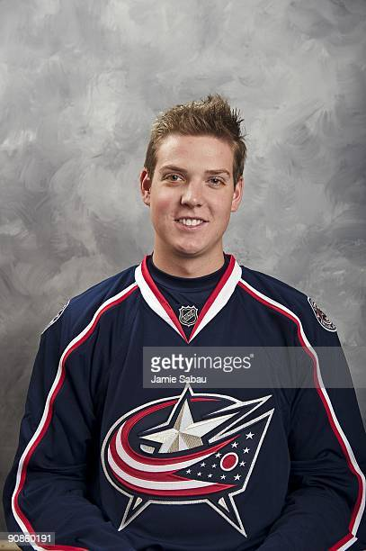 Steve Mason of the Columbus Blue Jackets poses for his official headshot for the 20092010 NHL season