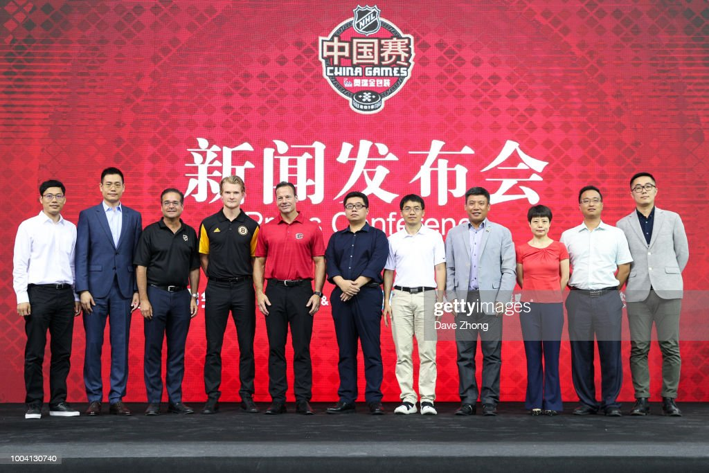 2018 NHL China Games - Press Conference : News Photo