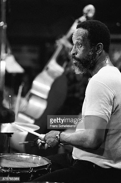 Steve McCall drums performs on February 25th 1982 at the BIM huis in Amsterdam Netherlands