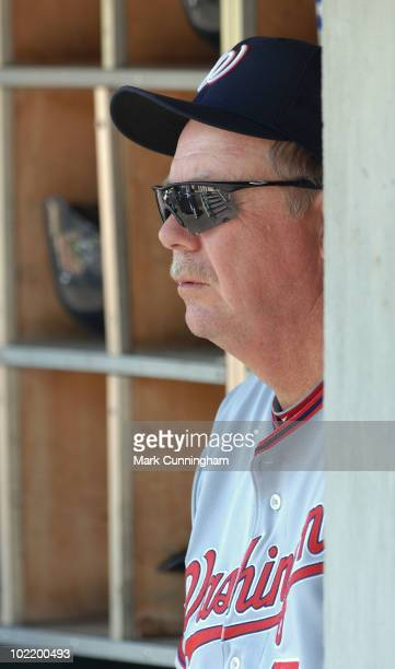 Steve McCatty of the Washington Nationals looks on against the Detroit Tigers during the game at Comerica Park on June 17 2010 in Detroit Michigan...