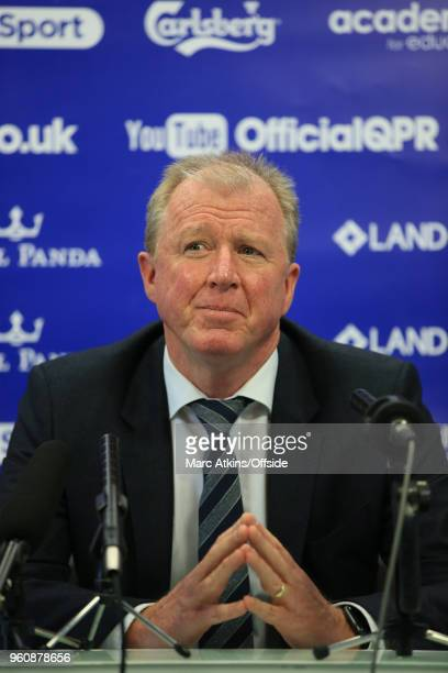 Steve McClaren is unveiled as new manager of Queens Park Rangers at Loftus Road on May 21 2018 in London England