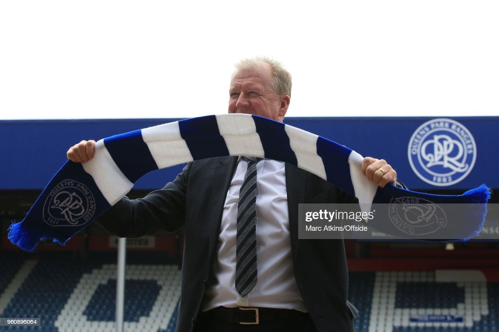 Steve McClaren is unveiled as new manager of Queens Park Rangers at Loftus Road on May 21, 2018 in London, England.
