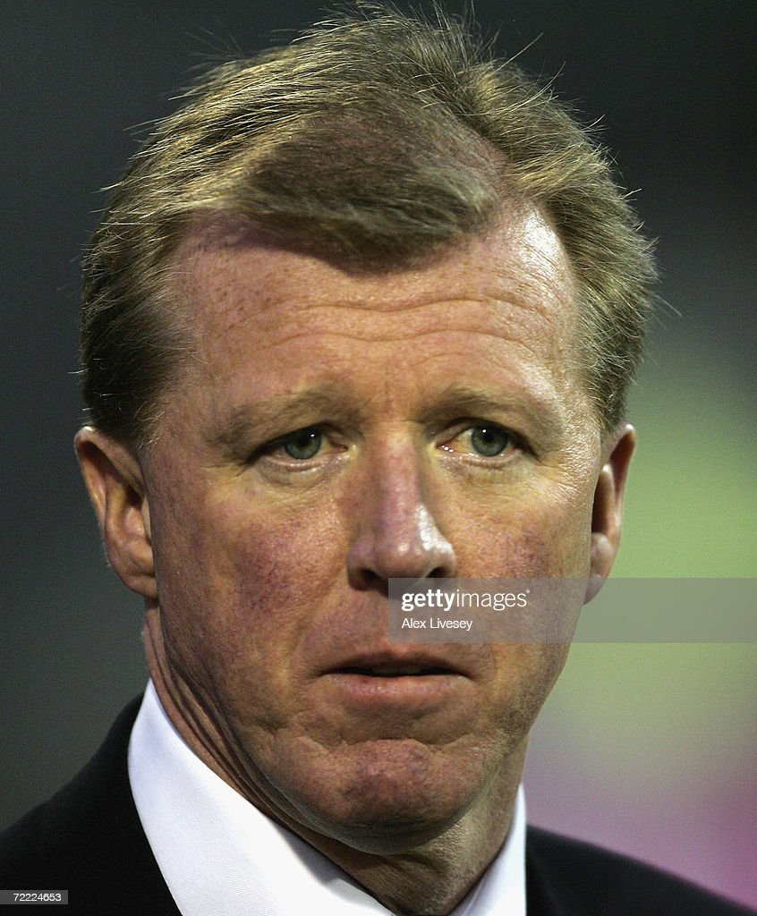 Steve McClaren manager of England looks on during the Euro2008 Qualifier match between Croatia and England at the Maksimir Stadium on October 11, 2006 in Zagreb, Croatia.