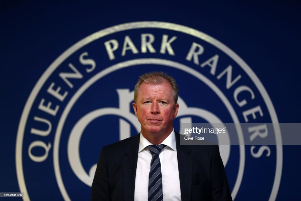 Steve McClaren poses for a photo, as he is officially unveiled as the Queens Park Rangers new manager at Loftus Road on May 21, 2018 in London, England.