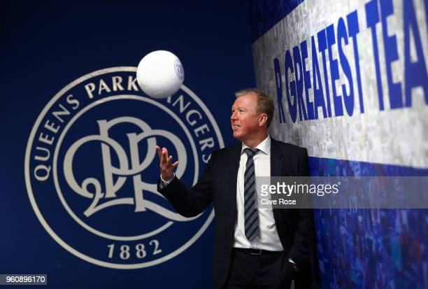 Steve McClaren poses for a photo as he is officially unveiled as the Queens Park Rangers new manager at Loftus Road on May 21 2018 in London England