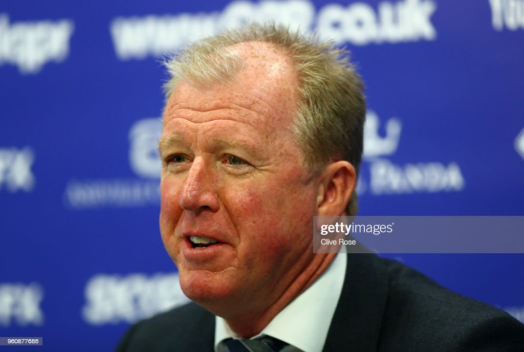 Steve McClaren speaks with the media, as he is officially unveiled as the Queens Park Rangers new manager at Loftus Road on May 21, 2018 in London, England.