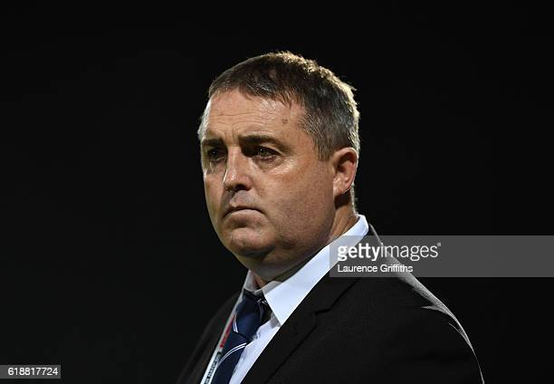 Steve McCormack of Scotland looks on during the Four Nations match between the Australian Kangaroos and Scotland at KCOM Lightstream Stadium on...
