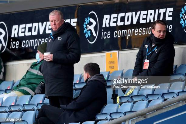 Steve McLaren in the stands during the Sky Bet Championship match between Blackburn Rovers and Derby County at Ewood Park on April 16, 2021 in...