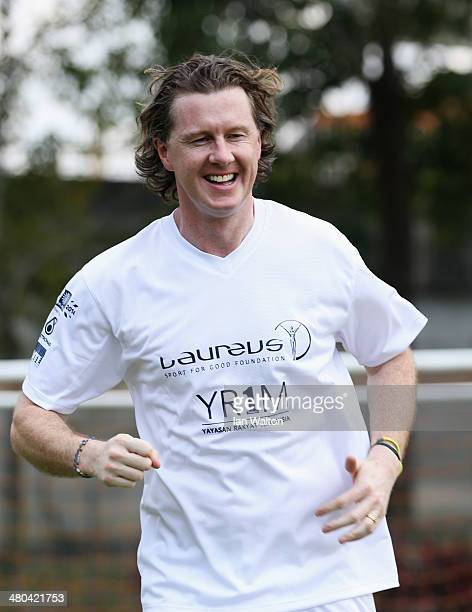 Steve McManaman looks on during the Laureus All Stars Unity Cup ahead of the 2014 Laureus World Sports Awards at Royal Selangor Club on March 25 2014...